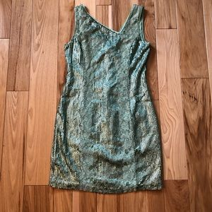Jessica Simpson Sequin and Lace Panel Dress NWT